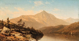 Attributed to Sanford Robinson Gifford (American, 1823-1880) or His Circle      Mountain Lake (View of Mt. Chocorua)