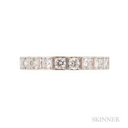 "18kt White Gold and Diamond ""Lanieres"" Ring, Cartier"