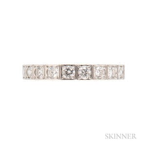 """18kt White Gold and Diamond """"Lanieres"""" Ring, Cartier"""