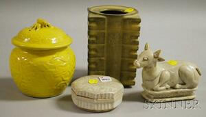 Four Small Asian Ceramic Articles