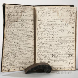 Cabinetmaker's Day Book, 1814-1820 Templeton, Massachusetts.