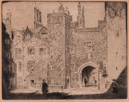 Joseph Pennell (American, 1860-1926)      Great Gate, Lincoln's Inn