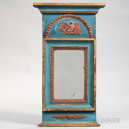 Blue-painted and Gilt Mirror