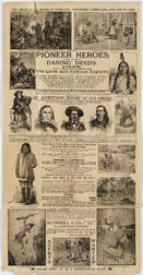 Kelsey, D.M. (fl. circa 1880s) Pioneer Heroes and their Daring Deeds  , Advertising Poster.