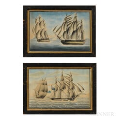 Anglo/American School, Early 19th Century      Two Maritime Scenes