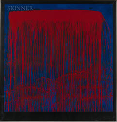 Pat Steir (American, b. 1940)      Red and Blue Berlin Waterfall