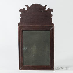 Red-painted Pine Queen Anne Mirror