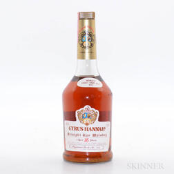 Cyrus Hannah Straight Rye 16 Years Old, 1 bottle
