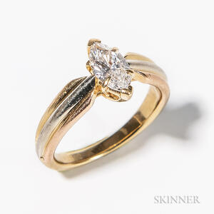 18kt Tricolor Gold and Diamond Ring, Cartier
