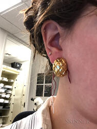 18kt Gold Earclips, David Webb