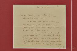 Whistler, James Abbott McNeill (1834-1903) Two Autograph Letters Signed and Related Letter.