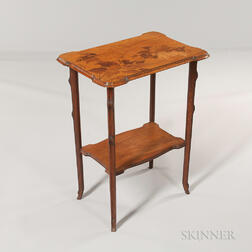 Two-tier Emile Galle Marquetry Table