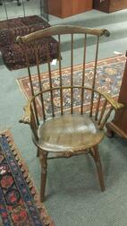 Carved Windsor Fan-back Armchair