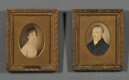 Anglo-Irish School, Early 19th Century      Lot of Six:  Five Henley Family Portraits and a Portrait of Rev. Thomas Corcoran.