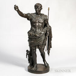 Grand Tour Bronze Statue of Augustus of Prima Porta