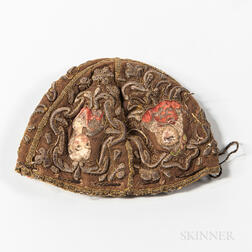 17th Century Embroidered Silk Infant's Cap