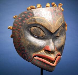 Sold for: $259,000 - Northwest Coast Painted Wood Mask