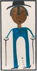 Mose Ernest Tolliver (Alabama, 1919-2006)      Portrait of a Man with Crutches
