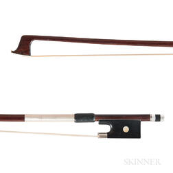 French Silver-mounted Violin Bow, Dominique Peccatte