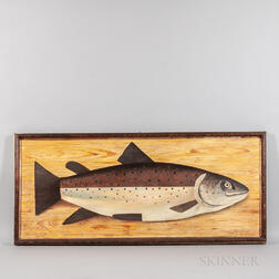 American School, Late 19th/Early 20th Century      Large Still Life with Single Trout