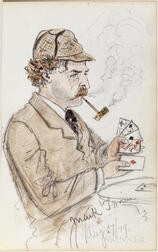 Grand Tour Sketchbook with Drawings of Mark Twain, July-August 1879.