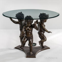 Center Table with Dancing Putti Base