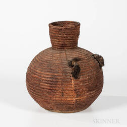 Jicarilla Apache Basketry Water Jar