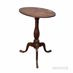 Queen Anne Cherry Oval-top Candlestand