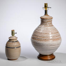 Two Mid-Century Pottery Lamps