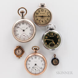 Four American Open-face Watches