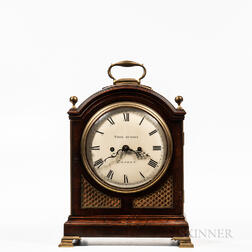 British Regency Mahogany Bracket Clock