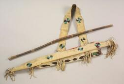 Southern Plains Beaded Hide Bow Case and Quiver