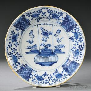 Delft Blue and White Pottery Charger