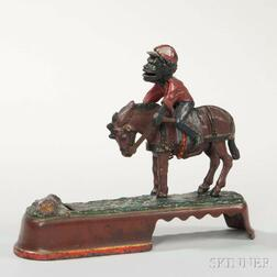"""Cast Iron """"Always Did 'Spise a Mule"""" Mechanical Bank"""