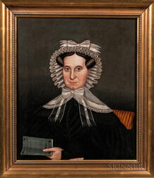 Milton Hopkins (New York/Connecticut/Ohio, 1789-1844)      Mrs. Clarissa Hovey AE 52, 1830