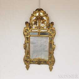 Italianate Carved and Gilt-gesso Mirror