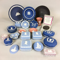 Twenty-nine Modern Wedgwood Jasper Commemorative Items.     Estimate $250-350