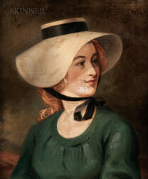 Anglo/American School, 19th Century      Woman in Green