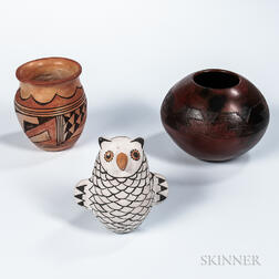 Three Southwest Pottery Pieces