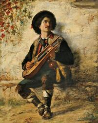 Federico Andreotti (Italian, 1847-1930)     Zither Player