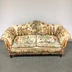 Colonial Revival Embroidered Sofa