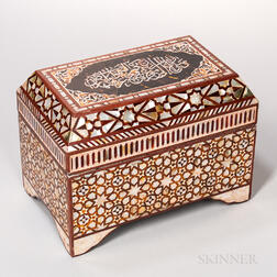 Iberian Inlaid Table Casket