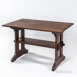 Gustav Stickley Library Table