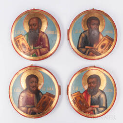 Four Russian Icons Depicting the Evangelists