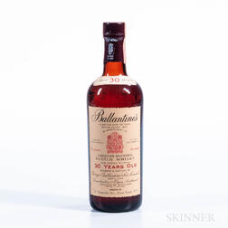Ballantines 30 Years Old, 1 4/5 quart bottle