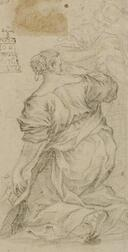 Italian School, 17th/18th Century Style  Lot of Two Old Master Drawings:  Portrait of a Gentleman