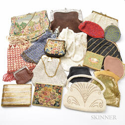 Approximately Fifteen Mesh and Embroidered Handbags