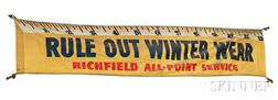 "Richfield Canvas Sign ""Rule Out Winter Wear,"""
