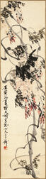 Hanging Scroll Depicting a Wisteria Vine