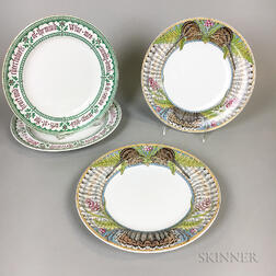 Four Minton Earthenware Plates